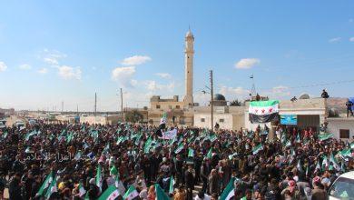 Photo of سكان المناطق المحررة يجددون عهد الثورة.
